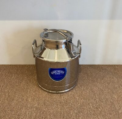 Stainless Steel 20lt Milk Can Full by Barry Brown & Sons in Victoria