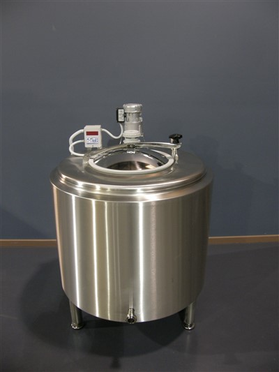 Jacketed stainless steel tank bottom outlet by Barry Brown & Sons in Victoria