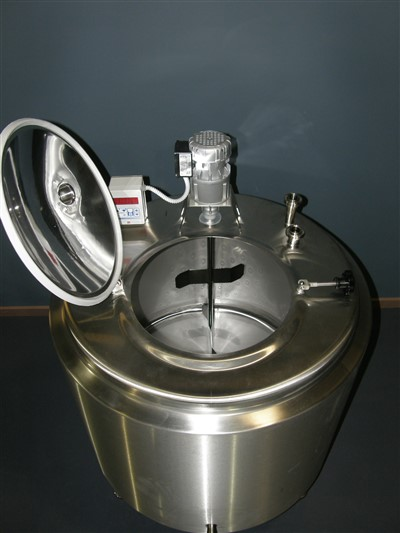 Stainless steel tank lid open by Barry Brown & Sons in Victoria