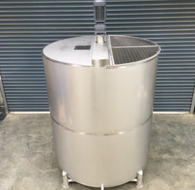 8000lt Single Skin Stainless Steel chemical Mixing Tank Full View by Barry Brown & Sons in Victoria