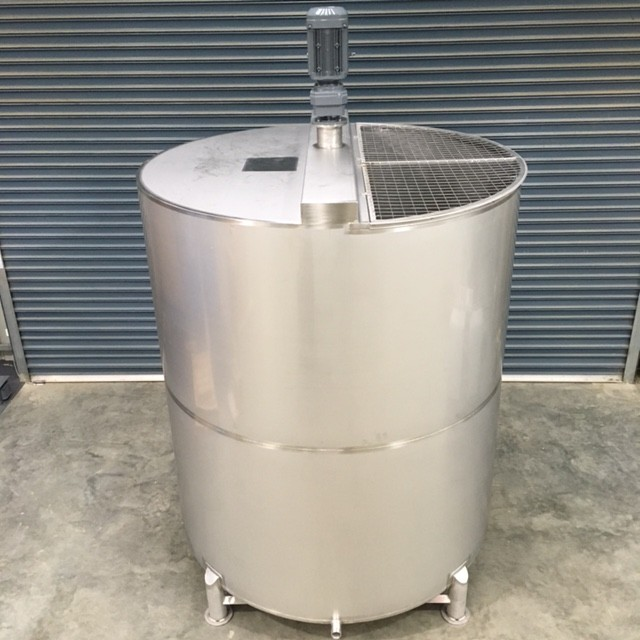 8 000lt Single Skin Stainless Steel Chemical Mixing Tank