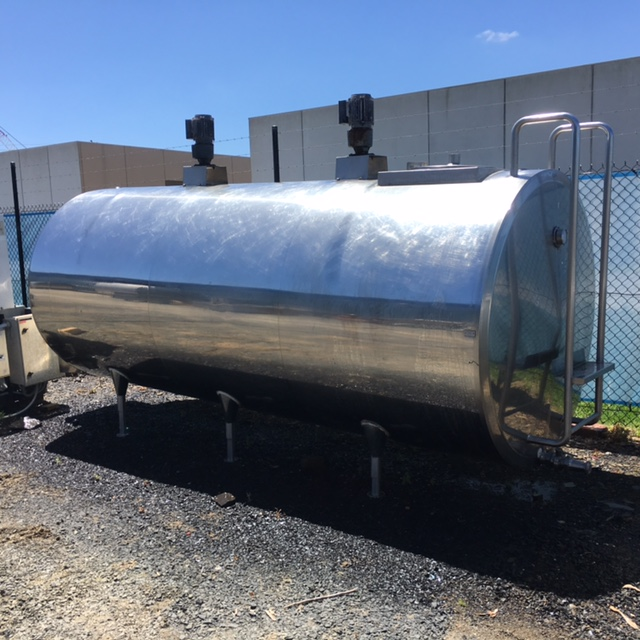 5,400lt Jacketed food Grade Tank full view by Barry Brown & Sons in Victoria