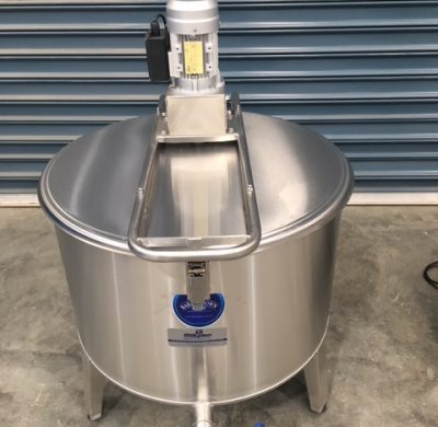 200lt Single Skin Stainless Steel Food Grade Tank Full View by Barry Brown & Sons in Victoria