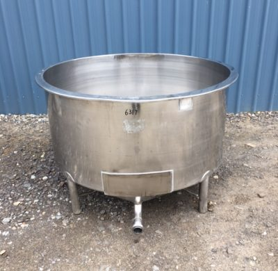 650lt single skin stainless steel Tank Full View by Barry Brown & Sons in Victoria
