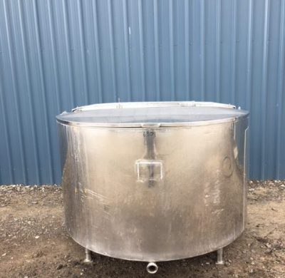 1350lt Jacketed Stainless Steel Tank Full View by Barry Brown & Sons in Victoria