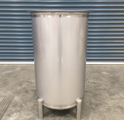 550lt NEW Stainless Steel Open Top Tanks Front by Barry Brown & Sons in Victoria