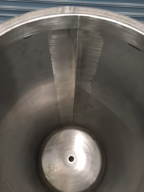 350lt NEW Stainless Steel Open Top Tanks Inner View by Barry Brown & Sons in Victoria