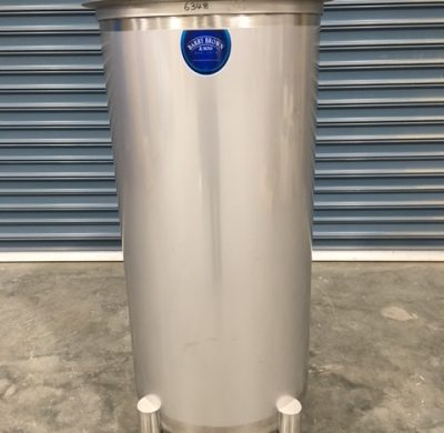 350lt NEW Stainless Steel Open Top Tanks Front View by Barry Brown & Sons in Victoria