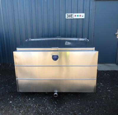 1350lt Jacketed Stainless Steel Tank Front by Barry Brown & Sons in Victoria