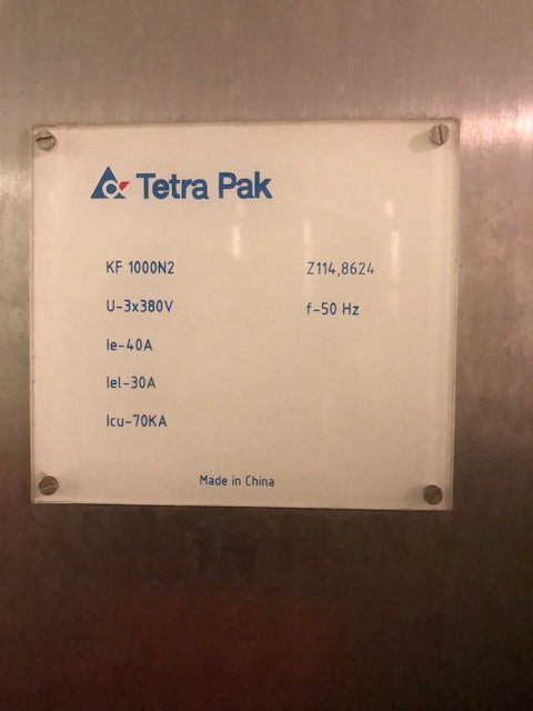 Tetra Pak Ice Cream Churn Power Label by Barry Brown & Sons in Victoria
