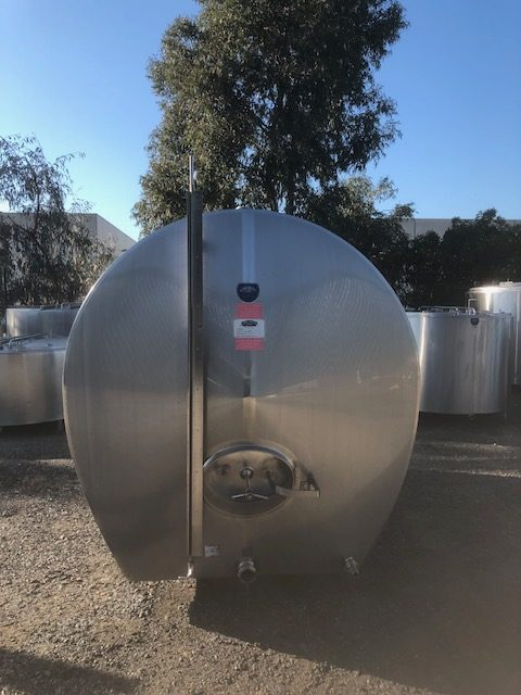7,200lt Insulated & Jacketed Stainless Steel Tank Front by Barry Brown & Sons in Victoria