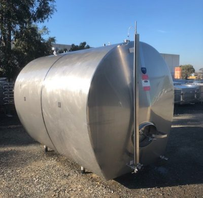 7,200lt Insulated & Jacketed Stainless Steel Tank Front Scale by Barry Brown & Sons in Victoria