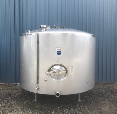 5,700Lt Stainless Steel Jacketed Tank Full View - Barry Brown & Sons in Victoria