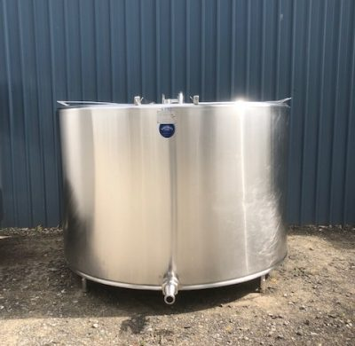 4000lt Jacketed Stainless Steel Tank Front - Barry Brown & Sons in Victoria