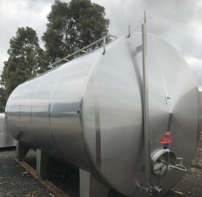 30,000lt Horizontal Jacketed Stainless Steel Tank - Barry Brown & Sons in Victoria