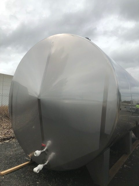 Horizontal Jacketed Stainless Steel Tank - Barry Brown & Sons in Victoria