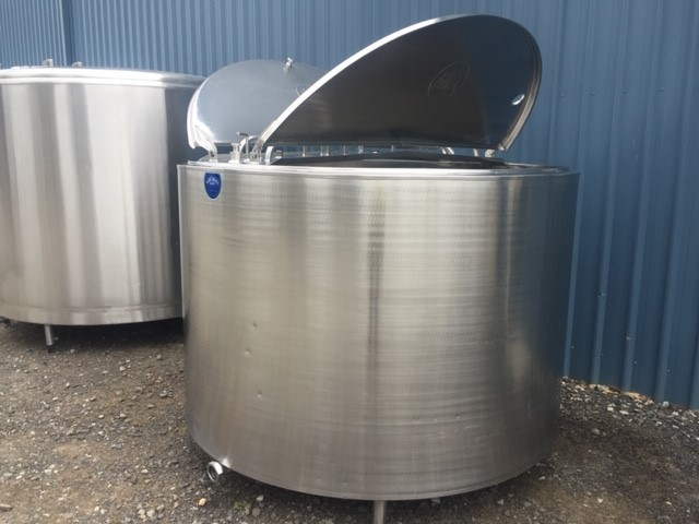 3,800lt Jacketed Stainless Steel Tank Open Lid - Barry Brown & Sons in Victoria