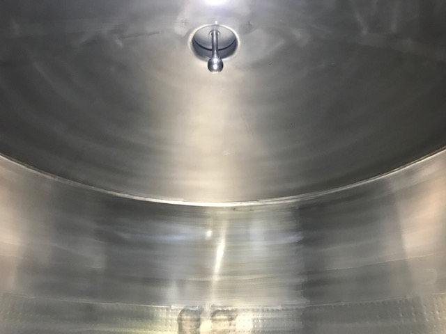 5,700Lt Stainless Steel Jacketed Tank Inner View Top - Barry Brown & Sons in Victoria
