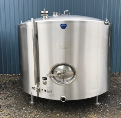 5,700Lt Stainless Steel Jacketed Tank Inlet View - Barry Brown & Sons in Victoria