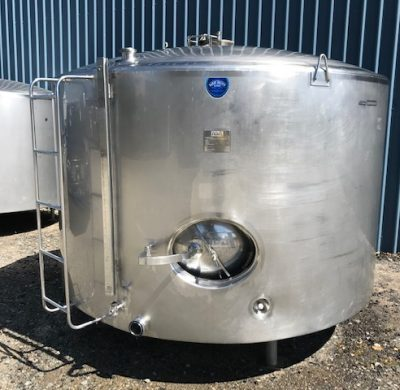 Used 5,700Lt Stainless Steel Jacketed Tank Outer View - Barry Brown & Sons in Victoria