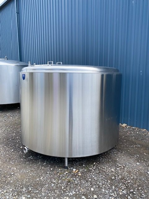 3,800lt Jacketed Stainless Steel Tank Side View - Barry Brown & Sons in Victoria