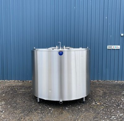 2,800lt Jacketed Stainless Steel Tank Full View - Barry Brown & Sons in Victoria