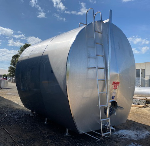 Jacketed Food Grade Tank Close View - Barry Brown & Sons in Victoria