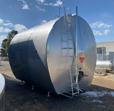 Jacketed Food Grade Tank Full View - Barry Brown & Sons in Victoria