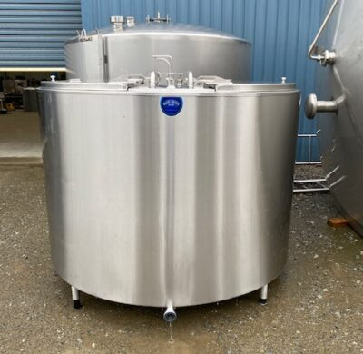 2630lt Jacketed Stainless Steel Tank Front View by Barry Brown & Sons in Victoria