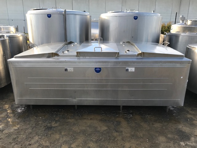3,100lt Jacketed Stainless Steel Tank Front by Barry Brown & Sons in Victoria
