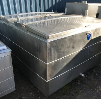 2,750lt Jacketed Stainless Steel Tank Full View by Barry Brown & Sons in Victoria