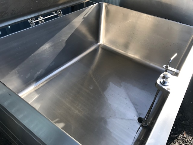950 lt Jacketed Stainless Steel Tank Inner View by Barry Brown & Sons in Victoria