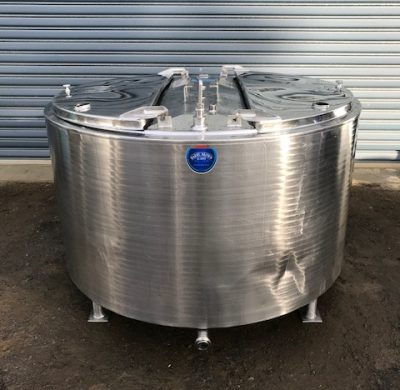 1400lt Jacketed stainless steel Tank Full View by Barry Brown & Sons in Victoria