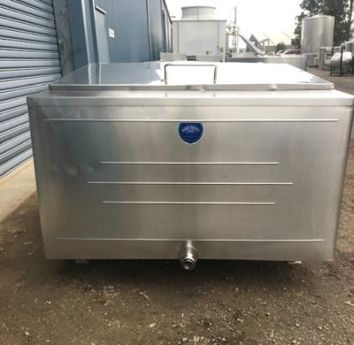 1850lt Jacketed Stainless Steel Tank Front by Barry Brown & Sons in Victoria