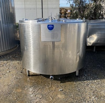 1550lt Jacketed stainless steel Tank by Barry Brown & Sons in Victoria