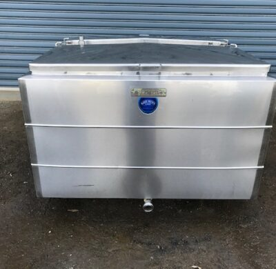 1540lt Jacketed Stainless Steel Tank Front by Barry Brown & Sons in Victoria