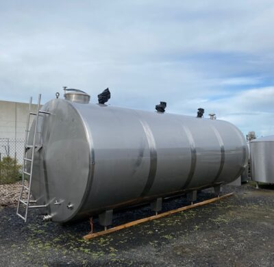 20,000lt Jacketed food Grade Tank Full View by Barry Brown & Sons in Victoria