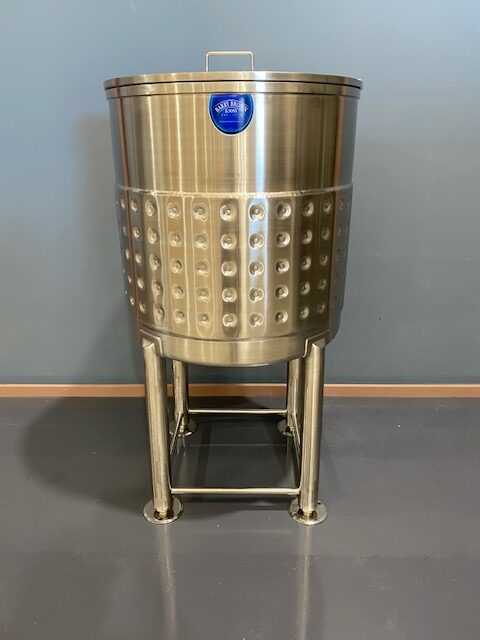 400 lt Jacketed Stainless Steel Tank Full View by Barry Brown & Sons in Victoria