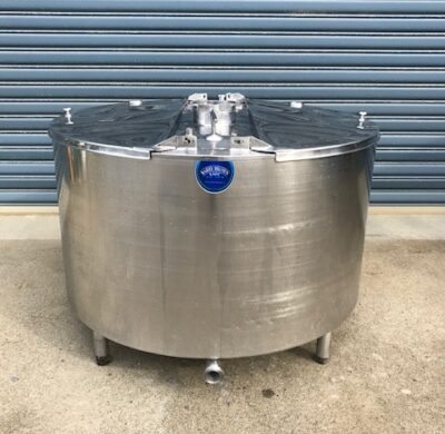 650lt Jacketed Food Grade Stainless Steel Tank Full View by Barry Brown & Sons in Victoria