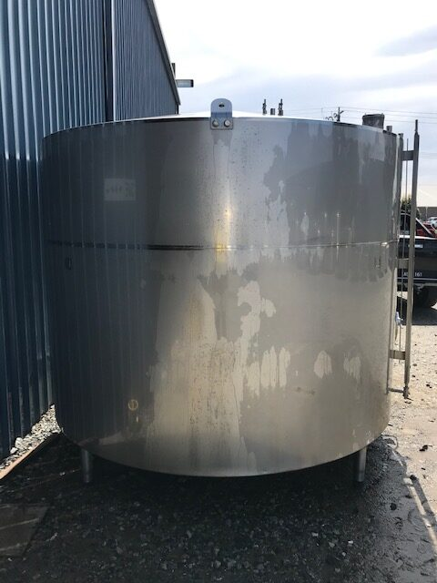 6,700lt Jacketed Stainless Steel Tank Front View by Barry Brown & Sons in Victoria